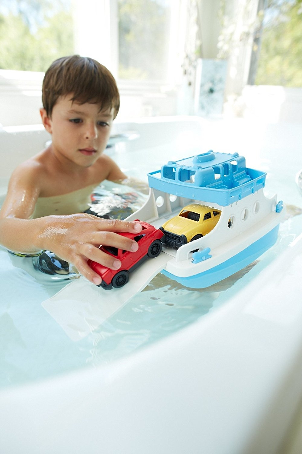 Green Toys Ferry Boat With Mini Cars Bathtub Toy Best Offer