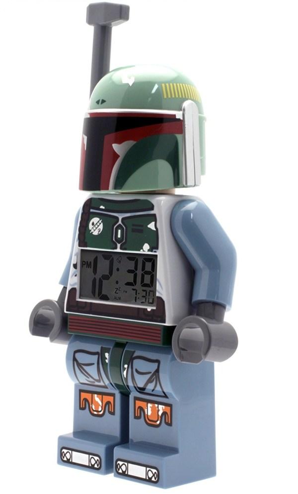 LEGO Star Wars Boba Fett Kids Minifigure Light Up Alarm Clock