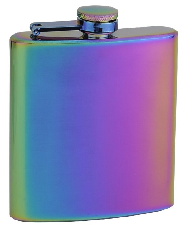 "Top Shelf Flasks Rainbow Colored ""Unicorn"" Hip Flask"