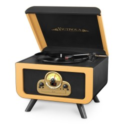 Victrola Bluetooth Wooden Turntable Entertainment Center