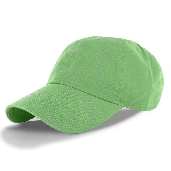 DealStock Plain 100% Cotton Hat Adjustable Baseball Cap