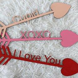 Decorative Valentines Day Arrows Be Mine Cupid I Love You Xoxo