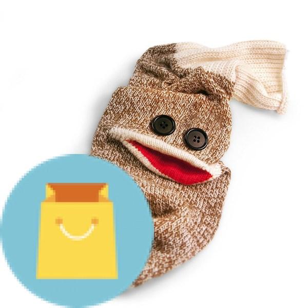 Fred WINE MONKEY Sock Monkey Bottle Caddy. Fred WINE MONKEY Sock Monkey Bottle Caddy.