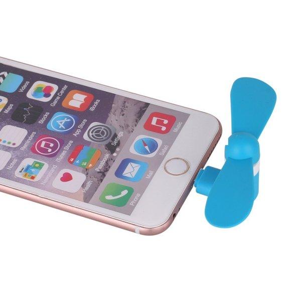 Lighting Mobile Phone Fan Portable