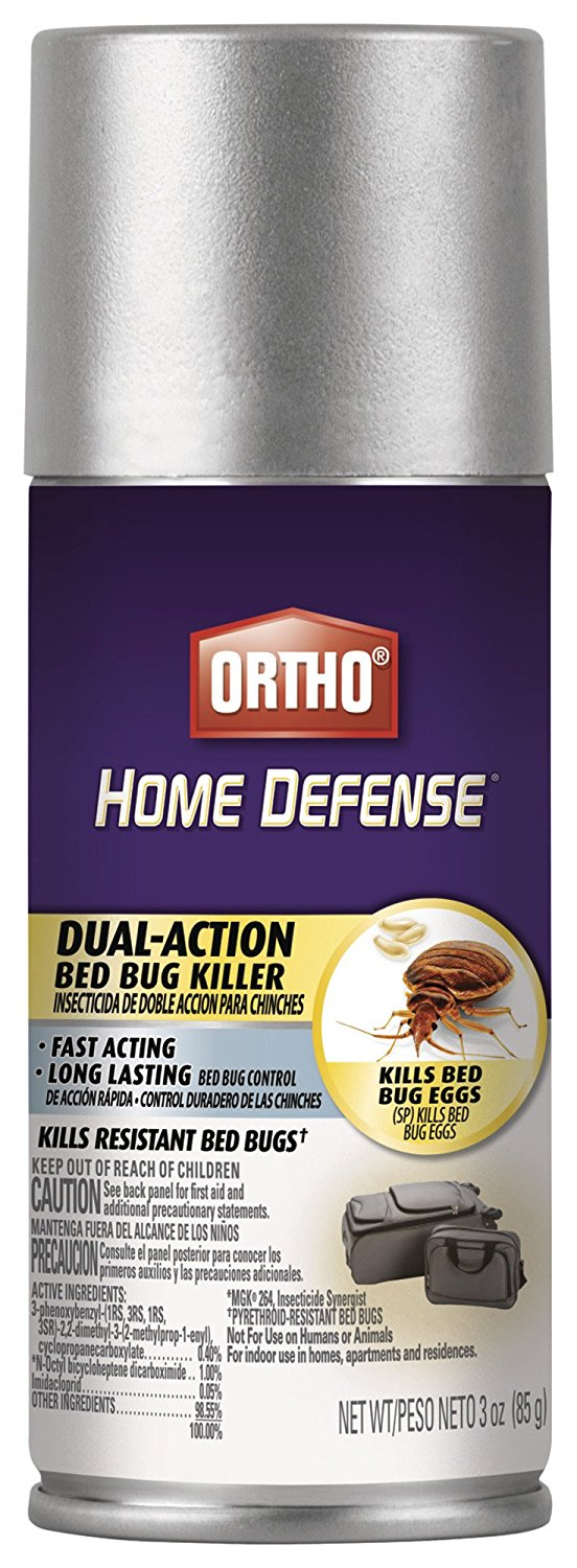 Ortho Aerosol Travel Size Home Defense Max Dual-Action Bed Bug Killer