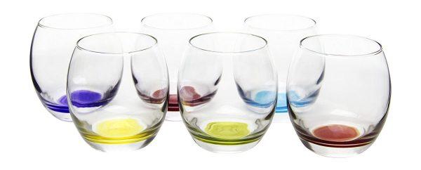 Prism Multi Colored Stemless Wine/Beverage Glasses
