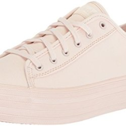 Keds Women's Triple Kick Shimmer Sneaker, Light Pink, 6.5 M US