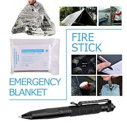 Survival Gear Kits 13 in 1 - Outdoor Emergency SOS Survive Tool for Wilderness Survival Gear Kits 13 in 1- Outdoor Emergency SOS Survive Tool for Wilderness /Trip / Cars / Hiking / Camping gear - Wire Saw, Emergency Blanket, Flashlight, Tactical Pen, Water Bottle Clip.