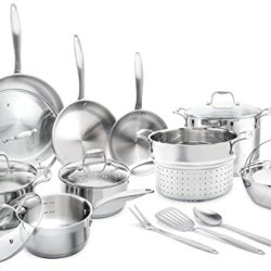 Elite 18/8 Stainless Steel 17-Piece Cookware Set By Famaid