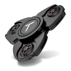 Trianium Fidget Spinner Pro Metal Series [Black] Phone Stress Reducer