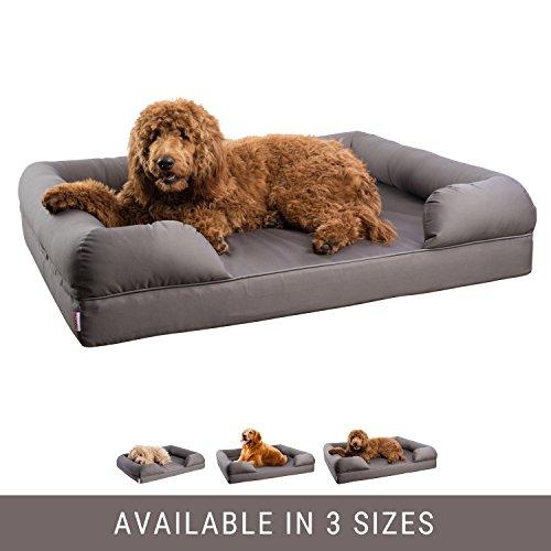 Petlo Orthopedic Pet Sofa Bed - Dog, Cat or Puppy Memory Foam Mattress