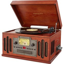 Crosley Musician 3-Speed Turntable with Radio, CD/Cassette Player, Aux-In and Bluetooth, Paprika