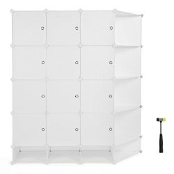 Closet Organizer DIY Cube Organization System With Doors Sticker and Rubber Hammer