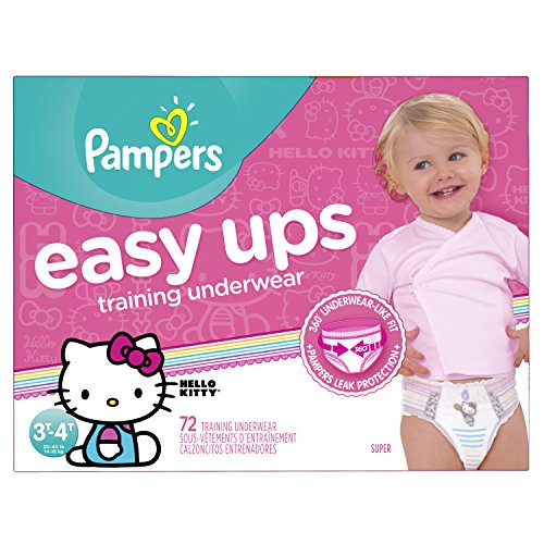 Pampers Easy Ups Training Pants Pull On Disposable Diapers for Girls Size 5