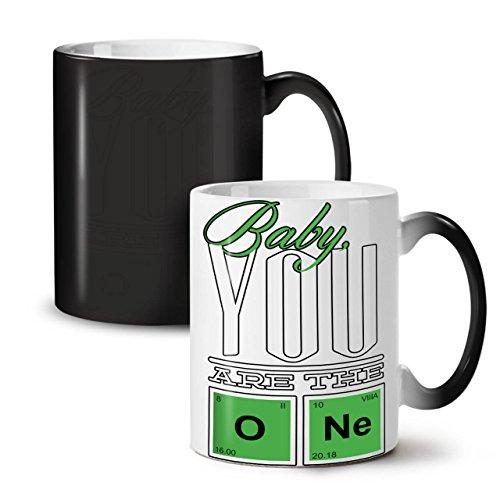 Periodic Black Colour Changing Tea Coffee Ceramic Mug