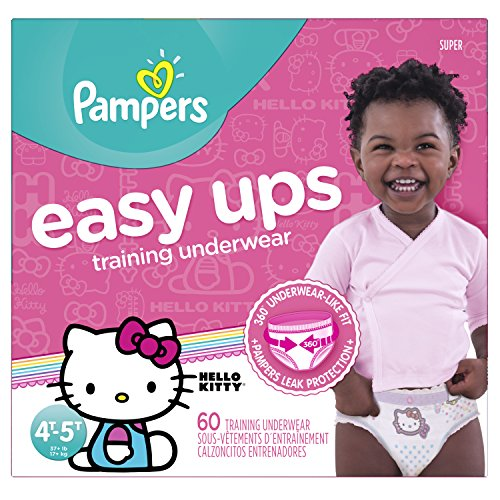 Pampers Easy Ups Training Pants Pull On Disposable Diapers for Girls Size 6