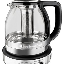 KitchenAid 1.5L Electric Glass Tea Kettle - Stainless Steel