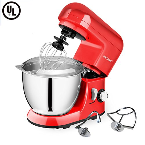 CHEFTRONIC Stand Mixer SM-985, 550W 6 Speeds Tilt-head Compact Kitchen Electric Mixer