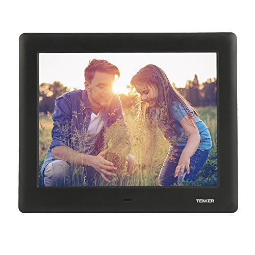 TENKER 7-inch HD Digital Photo Frame IPS LCD Screen with Auto-Rotate/Calendar/Clock Function, MP3/Photo/Video Player