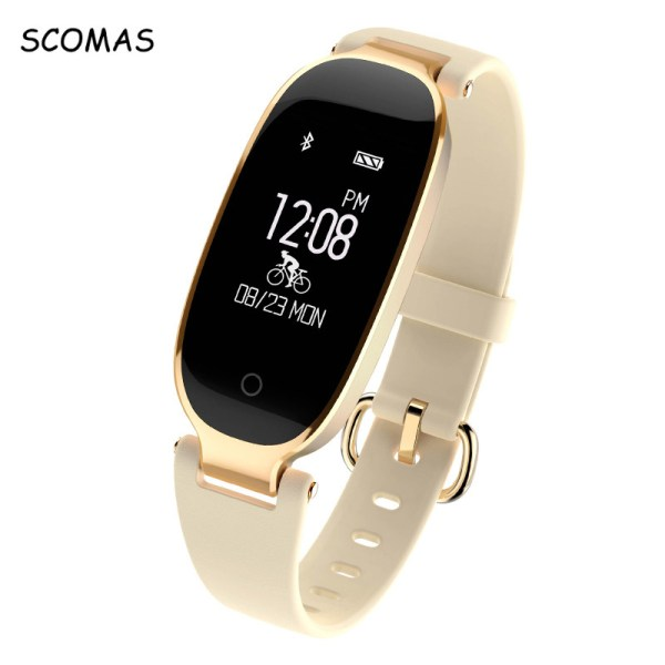 SCOMAS S3 Bluetooth Waterproof Smart Watch Fashion Women Ladies Heart Rate Monitor Fitness Tracker