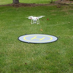 """Fotodiox 42"""" Collapsible Drone Launch Pad - Fast-Fold Portable Landing Pad Apron for RC Drone"""