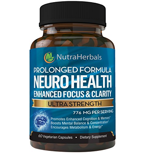 """Brain Booster Supplement -""""60 Day Supply"""" Nootropics Support Mental Clarity, Memory & Focus. Scientifically Formulated - DMAE, Rhodiola Rosea, Bacopa Monnieri, Alpha Brain Max"""