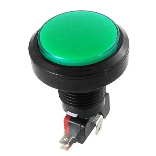 Momentary Push Button Switch - TOOGOO(R) 12V DC LED Light Illuminated Green Round