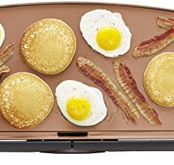 BELLA 10.5 x 20 Inch Copper Titanium Coated Electric Non-Stick Griddle, 1500 Watts 14606