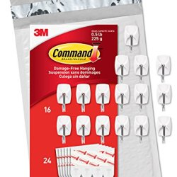 Command Small Wire Hooks, 16-Hooks, 24 Strips