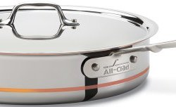 All-Clad Copper Core 5-Ply Bonded Dishwasher Safe Saute Pan / Cookware, 5-Quart, Silver