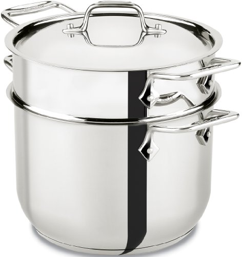 All-Clad Stainless Steel Pasta Pot and Insert Cookware, 6-Quart, Silver