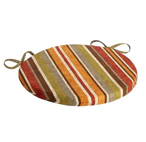 Alfresco Red/Orange Stripe Indoor/Outdoor Bistro Chair Cushion 15""