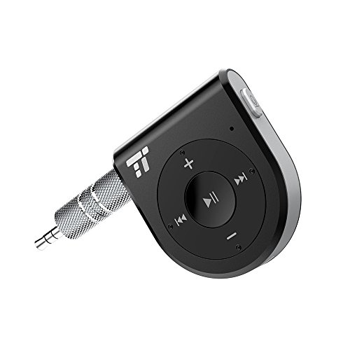Bluetooth Receiver, Better Talking Experience with Two Microphones 15 Hour Bluetooth Car Kit