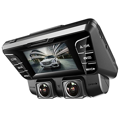 Pruveeo C2 Dual Dash Cam 1920x1080P Front and Rear Car Dashboard Camera with Sony Sensor