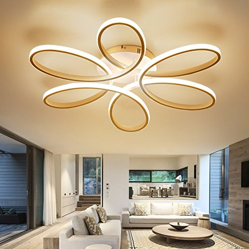 LightInTheBox Floral Flush Mount 90W Modern Contemporary LED Chandelier Ceiling Light