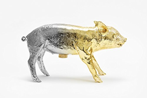 Reality Bank in the Form of a Pig Piggy by Areware, Gold/Silver Gradient