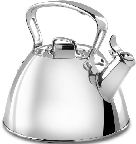 All-Clad Stainless Steel Specialty Cookware Tea Kettle, 2-Quart, Silver