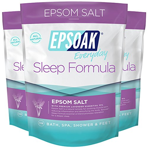 Epsoak Sleep Formula Epsom Salt 6 lbs. - Lavender Bath Soak, Relax & Sleep Well