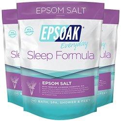 Epsoak Sleep Formula Epsom Salt 6 lbs. - Lavender Bath Soak, Relax & Sleep Well
