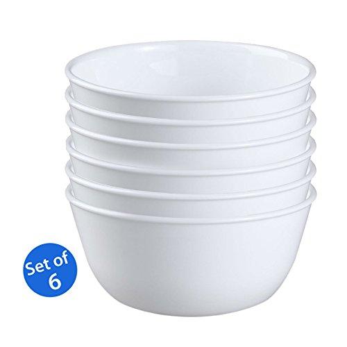 Corelle Livingware 28-Ounce Super Soup/Cereal Bowl, Winter Frost White - Set of 6