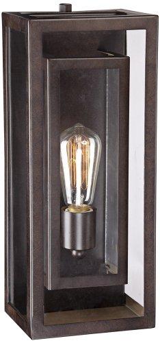 """Possini Euro Double Box 15 1/2""""H Bronze Outdoor Light"""