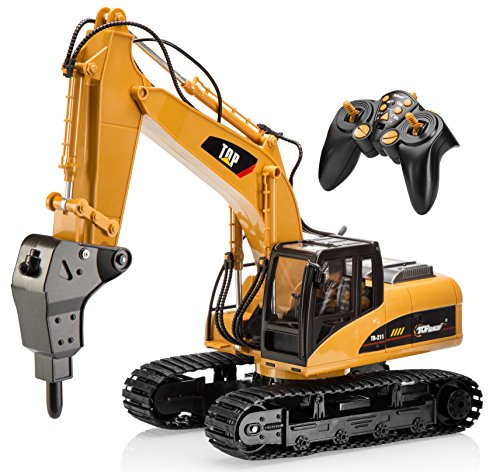 Top Race 16 Channel Professional Remote Control Drill Excavator