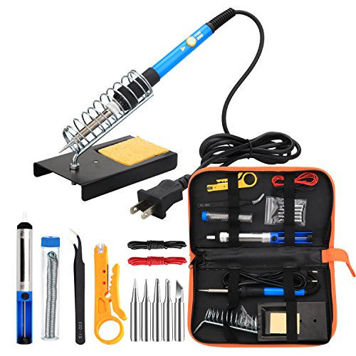 ANBES Soldering Iron Kit Electronics, 60W Adjustable Temperature Welding Tool