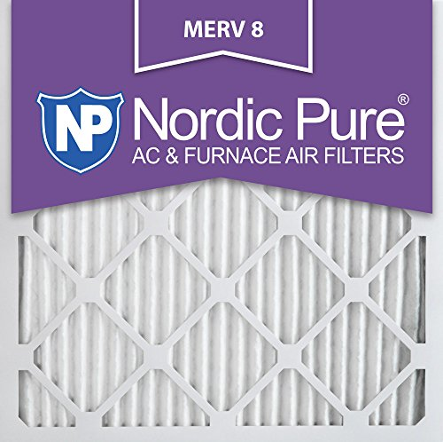 Nordic Pure 20x20x1M8-6 MERV 8 Pleated AC Furnace Air Filter, 20x20x1, Box of 6