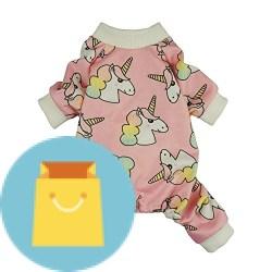 Unicorn Pet Clothes for Dog Pajamas PJS Cat