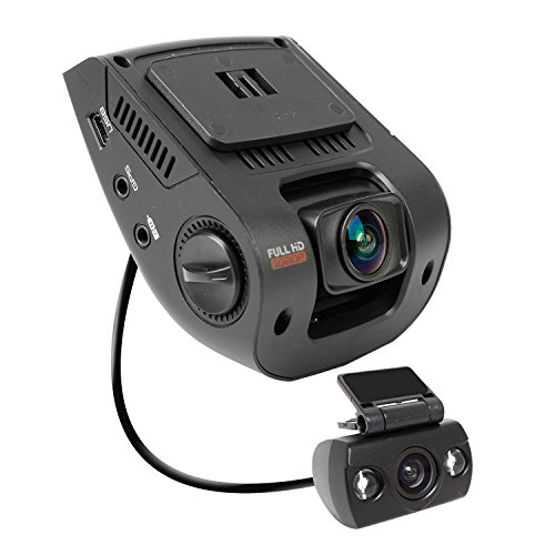 """Rexing V1P 2.4"""" LCD FHD 1080p 170 Degree Wide Angle Dual Channel Dashboard Camera Recorder Car Dash Cam"""