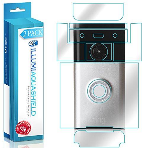 Ring Video Doorbell Screen Protector + Back Cover (Wi-Fi Enabled)[2-Pack], ILLUMI AquaShield Full Coverage Back and Front Screen Protector for Ring Video Doorbell HD Clear Anti-Bubble Film