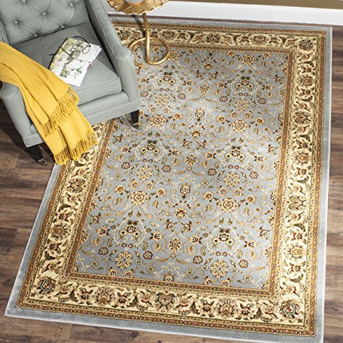 Safavieh Lyndhurst Collection Traditional Oriental Light Blue and Ivory Square Area Rug (10' Square)