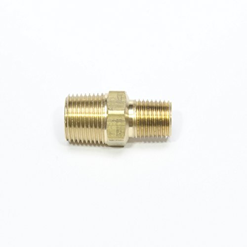 "FasParts 3/8"" Male NPT to 1/4"" Male NPT MPT MIP Hex Pipe Nipple Brass Fitting"