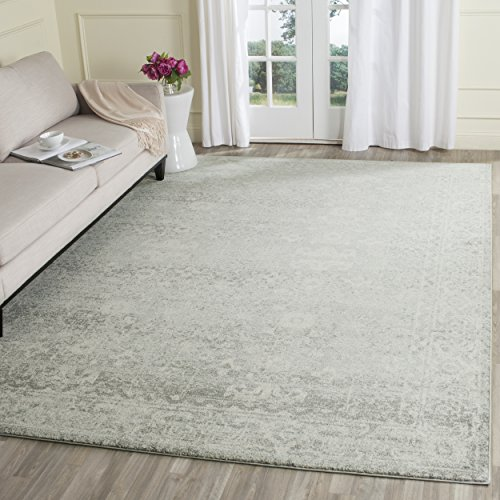 Safavieh Evoke Collection Vintage Silver and Ivory Area Rug (8' x 10')